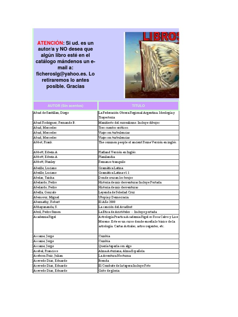 EXCEL- Libros Por AUTOR Hasta Lg-fs v.2(04!01!05)
