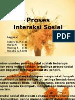 Proses Interaksi Sosial