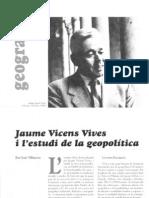 Jaume Vicens Vives i la geopolítica (II)