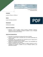 PROGRAMA DEL CURSO CUENTERÍA Y NARRACIÓN ORAL