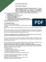 Aula 11 Plano Nacional de Educacao Sintese e Analise Critica
