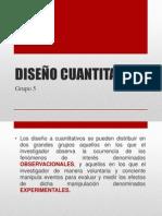 Diseños cuantitativos - Metodología de la Investigación