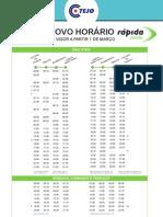 March 1 2013 -New Timetable - RodoTejo Bus Rapida Verde Lisboa Campo Grande/ Obidos/ Caldas da Rainha