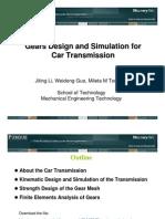 Car Transmission Design