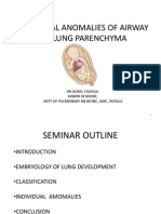 Congenital Anomalies of airway and lung parenchyma