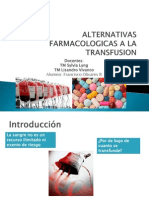 Alternativas Farmacologicas a La Transfusion