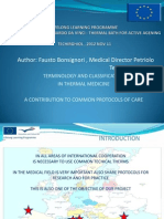 TERMINOLOGY AND CLASSIFICATION  IN THERMAL MEDICINE    A CONTRIBUTION TO COMMON PROTOCOLS OF CARE