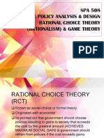 rational choice theory, game theory