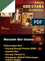 Masalah Gizi Utama Di Indonesia