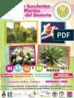 Poster Festival de Suculentas y Otras Plantas Del Desierto 2013