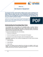 Adding Assets & Equipment