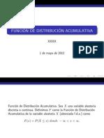 Funcion de Distribucion Acumulativa