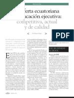 EDUCACIÓN EJECUTIVA EN ECUADOR