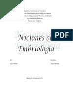 Nociones de Embriologia