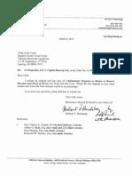 Defendants' response to motion to remove directors