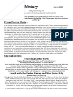 Newsletter, March, 2013