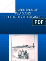 Fundamentals of Fluid and Electrolyte Balance
