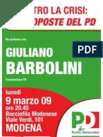 PD Modena - Incontro con Sen Barbolini