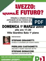 PD Cavezzo, Incontro con Draghetti