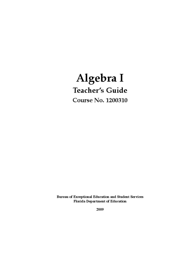 Algebra i teachers guide educational assessment fraction algebra i teachers guide educational assessment fraction mathematics malvernweather Gallery