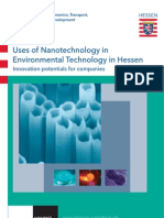 (1)Uses of Nanotechnology in Environmental Technology in Hessen