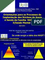 Sesa-pr Orientacao o Floxo Nasf 01 02 e 03 Saude Mental