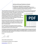 Federation of Ontario Power Co-Ops. Letter Feb 14 2013