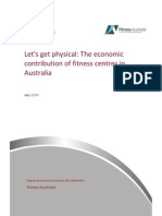 Deloitte Access Economics - The Economic Contribution of Fitness Centres in Australia (2012)
