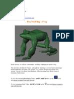 Box Modeling Frog