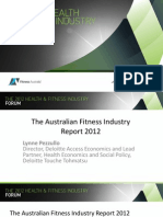 Fitness Australia - The Australian Fitness Industry Report 2012 (Presentation)
