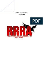 RRRA Constitution 2012-13 Official Document