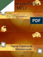 MPU Adm Publ 1 e 2 Características das org form modernas