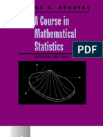 A Course in Mathematical Statistics 0125993153