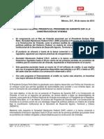 06 03 12 EL GOBIERNO FEDERAL PRESENTA EL PROGRAMA DE GARANTÍA SHF A LA CONSTRUCCIÓN DE VIVIENDA