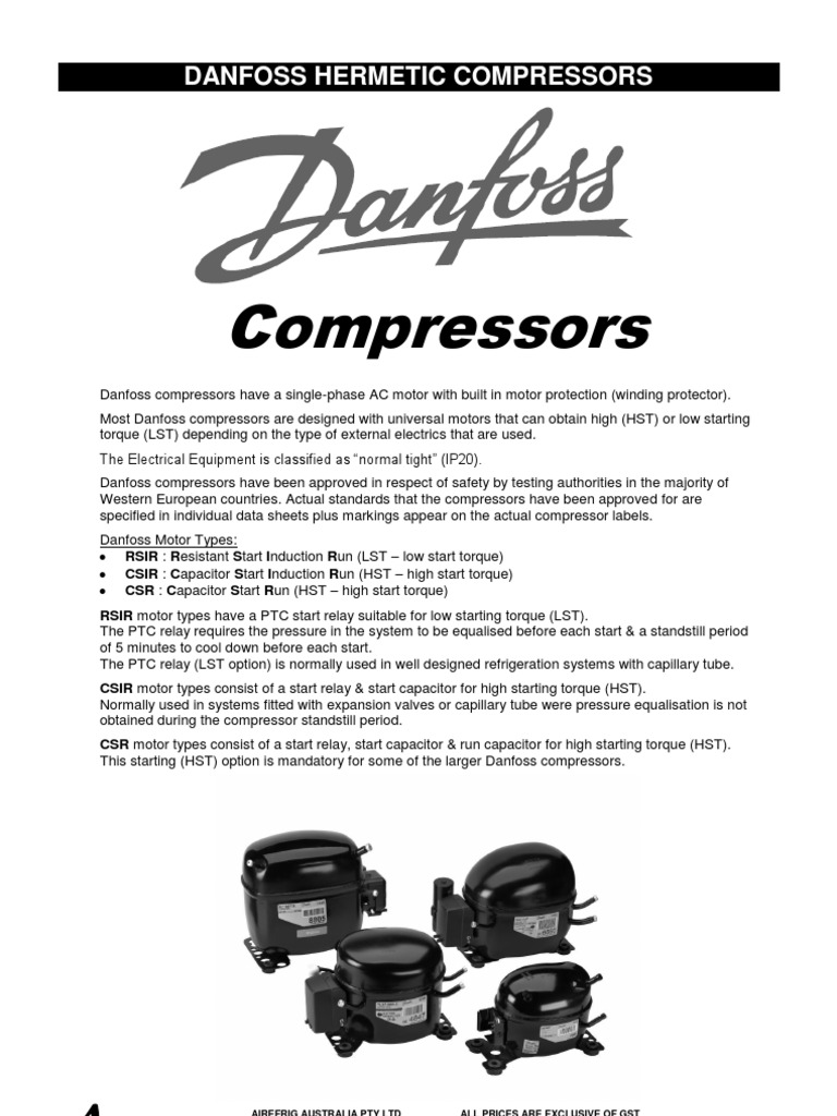 Danfoss Refrigerator Start Relay Wiring Diagram Run Capacitor 102 117 Whirlpool Compressor