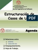 Estructuración casos de uso