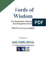 Words of Wisdom 1