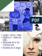 Power Lengua, Norma y Habla