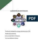 Reporte de Metalografia MENDOZA ARELLANO