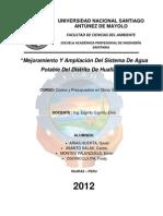 Mejoramiento Y Ampliación Del Sistema De Agua Potable Del Distrito De Huallanca