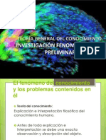 Inv. fenomenológica preliminar