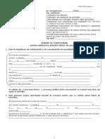 Cerere Si Chestionar Pentru Obtinere ATR Cu o Putere Contractata Mai Mica Sau Egala Cu 100 kW