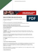 Guia de Estudos Para Novatos No Pua
