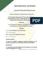 """""""Las competencias digitales y el trabajo por proyectos colaborativos en el aprendizaje de la biología"""""""