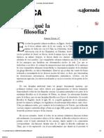 La Jornada_ ¿Por qué la filosofía_