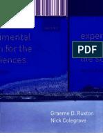 Ruxton, Colegrave. Experimental Design for the Life Sciences