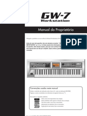 GW-7_PT | Som | Teclado de Computador