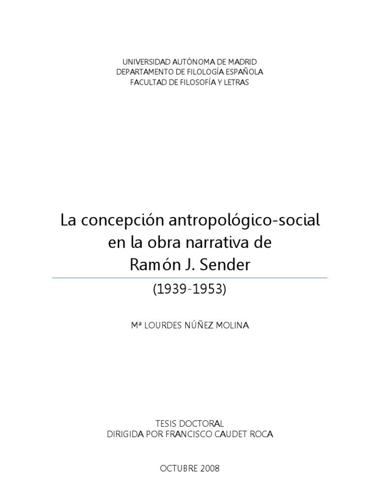 Ramón José Sender, el compromiso humanista