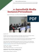 Pelatihan Jurnalistik Media Instansi_Perusahaan