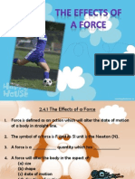Effects of Force